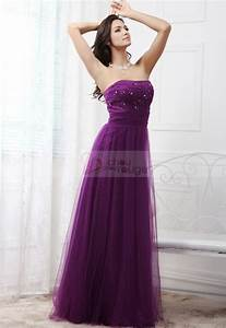 robe mariage pas cher longue violet With robe de soirée longue pas cher pour mariage