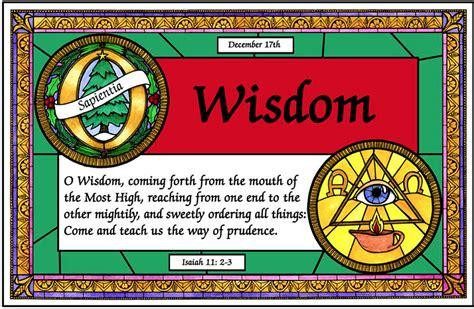 antiphons december   sapientia  wisdom