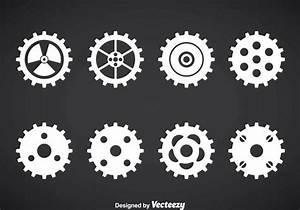 Clock Gears Vector Set