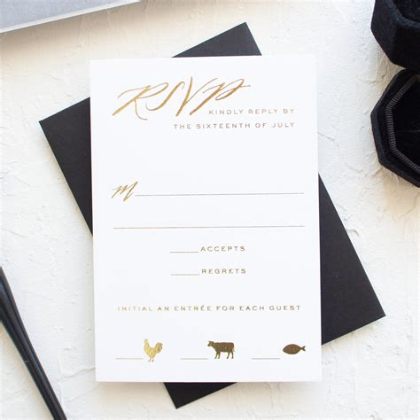 Black and Gold Wedding Invitations Vellum and Wax Seal
