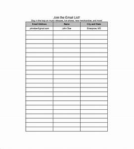 Email list template 10 free word excel pdf format for Email mailing list template
