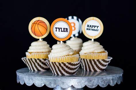 basketball party decorations  invitation set