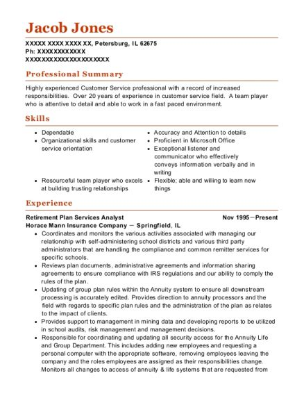 Here you should include your name. Retiree Office Resume - Benefits Analyst Resume Samples ...