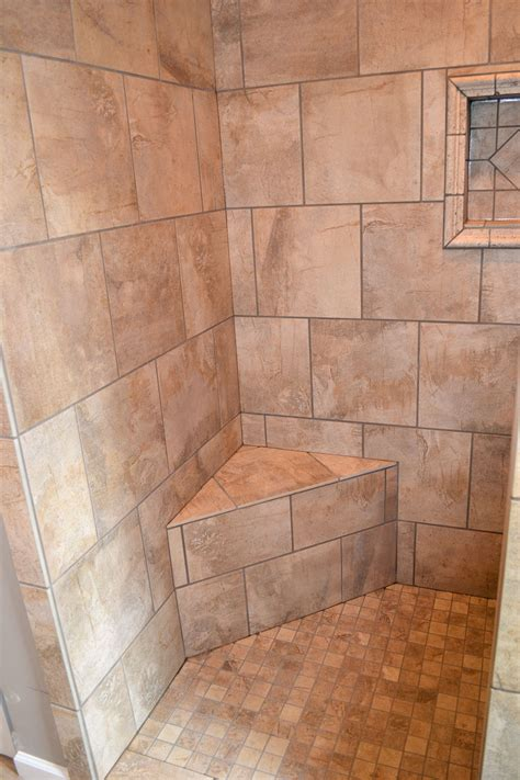 master bath walk in tile shower ak britton construction llc