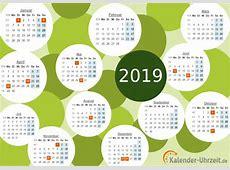 Kalender 2019 zum Ausdrucken Download Freewarede