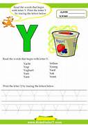 Kids Under 7 Alphabet Worksheets Trace And Print Letter Y Parents And Teachers Utilize These Letters Of The Alphabet Worksheets Click Here For More Words On Y Theme Of The Day Scrabble Words That Start With Q