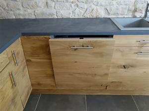 Facade Meuble De Cuisine : facade cuisine bois naturel le bois chez vous ~ Edinachiropracticcenter.com Idées de Décoration