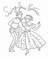 Embroidery Dance Square Coloring Pages Swing Country Ab Dancing Quotes Patterns Flickr Colouring Danse Applique Quotesgram Template sketch template