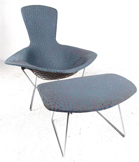 harry bertoia quot bird quot chair with ottoman by knoll furniture