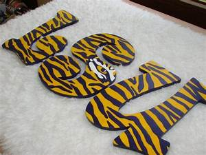 17 best images about lsu on pinterest christmas ornament With lsu wooden letters