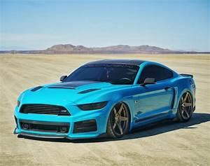 TGIF! STUNNING BAGGED GRABBER BLUE MUSTANG ROUSH ! : Mustang