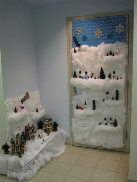 office christmas door decorating contest winners designcorner