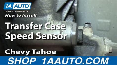 replace transfer case speed sensor   chevy