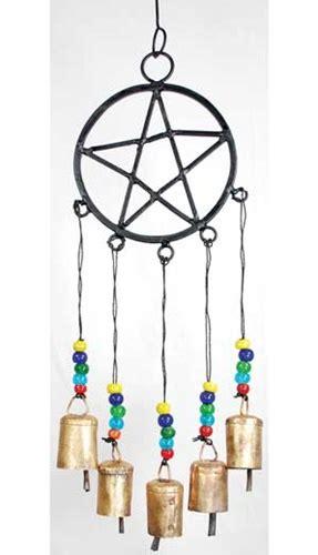 metal pentagram  beads wind chime