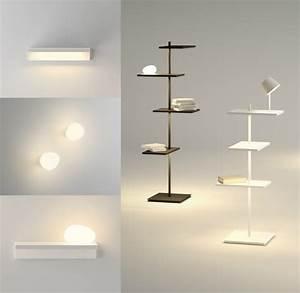 Lampe De Chevet Noir : luminaire chambre adulte de style minimaliste par vibia ~ Teatrodelosmanantiales.com Idées de Décoration