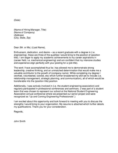 cover letter engineering graduate yin case study research