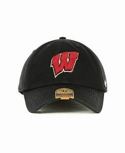 47 Brand Wisconsin Badgers Franchise Cap in Black for Men