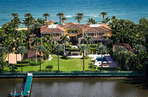million mediterranean waterfront mansion  palm beach