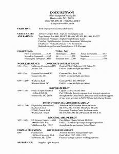 pilot resume examples examples of resumes With aviation resume template
