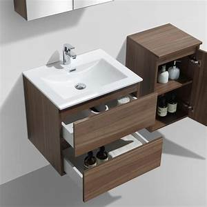 meuble salle de bain design simple vasque siena largeur 60 With meuble 75 cm largeur