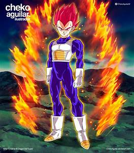 Vegeta Super Saiyan God (SSG) by ChekoAguilar on DeviantArt