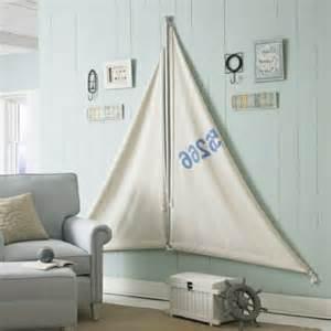 wandgestaltung selber machen seesegel wohnzimmer maritime look deko selber machen interessante wandgestaltung sofa