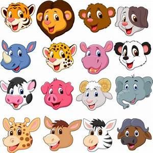 Tete Animaux Deco : stickers kit enfant planche de t te d 39 animaux art d co ~ Teatrodelosmanantiales.com Idées de Décoration