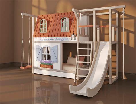 Кровать «Прованс» двухэтажная с горкой купить в Москве по ...