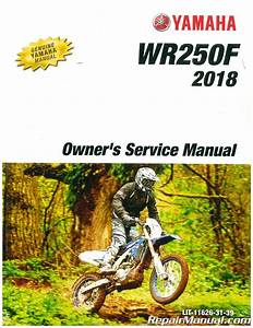 2018 Yamaha Wr250f Motorcycle Owners Service Manual