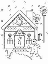 Gingerbread Coloring Pages Printable Drawing Near Colouring Christmas Houses Sheet Paper Dot Winter Detailed Geometrically Perfect sketch template