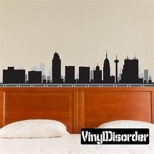 San antonio texas skyline vinyl wall decal or car sticker for Vinyl lettering san antonio