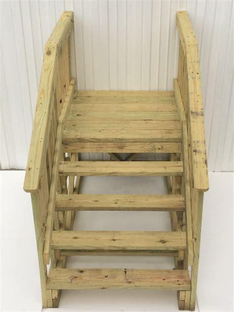 treated wood platform step royal durham supply