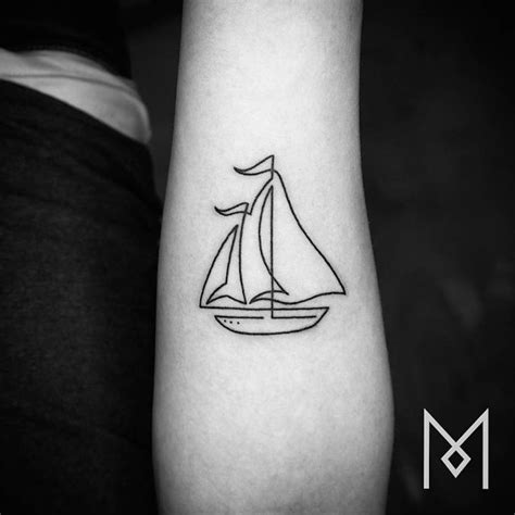 Boat Outline Tattoo by Ship Tattoo Images Designs