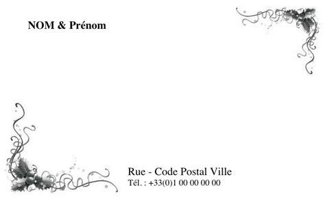 modèle carte de visite personnelle classique modele de carte de visite personnelle