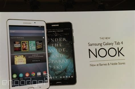 Barnes & Noble Launches The 9 Galaxy Tab 4 Nook