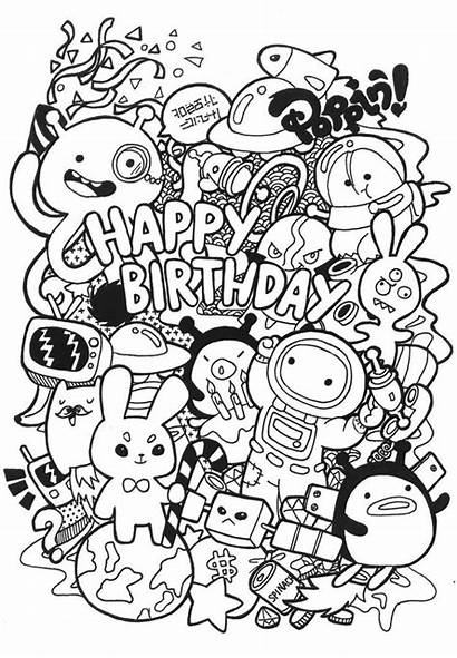 Doodle Coloring Pages Teens