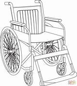 Coloring Wheelchair sketch template