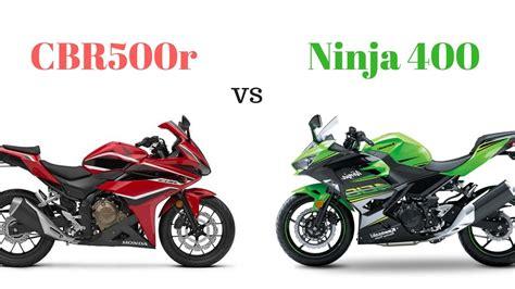Honda Cbr500r Vs Kawasaki Ninja 400 (2018 Models)