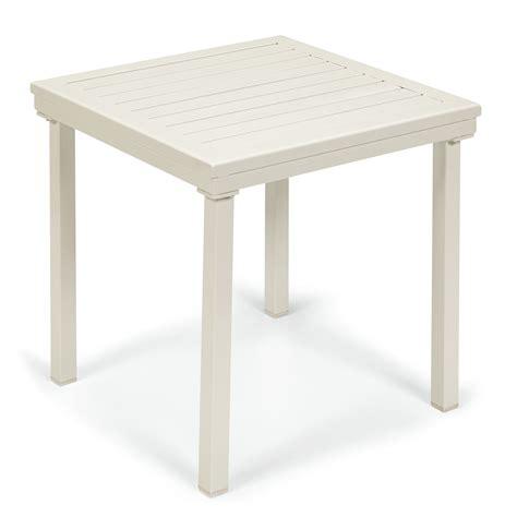 grand resort white slat side table outdoor living