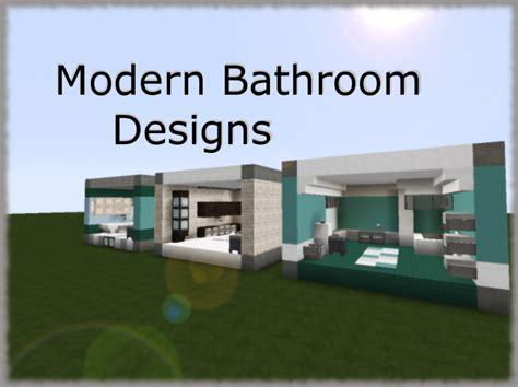 Modern Bathroom Minecraft by 3 Modern Bathroom Designs Minecraft Project