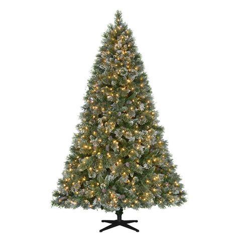 martha stewart living christmas lights martha stewart living 7 5 ft pre lit led sparkling pine