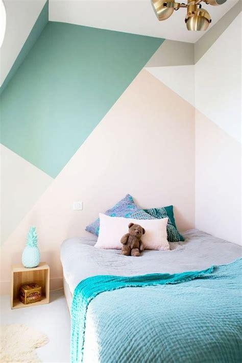 habitaciones juveniles  paredes geometricas
