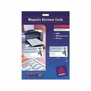 avery magnetic business cards 10up 10 sheet 90x52mm With avery magnetic business cards