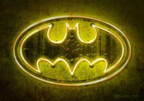 Batman Logo  Neon By 3ftdeep On Deviantart