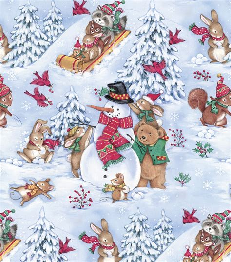 holiday inspirations christmas fabric forest snow day