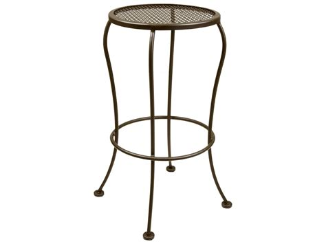 Ow Lee Bistro Wrought Iron Backless Bar Stool