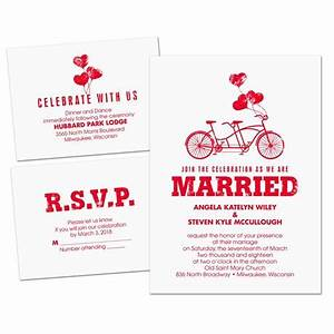 in tandem separate and send invitation ann39s bridal bargains With wedding invitations separate and send