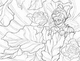 Peony Simple Drawing Getdrawings Coloring sketch template