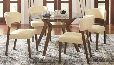 Ortanique Glass Dining Room Set by Paxton Glass Dining Room Set From Coaster 122180