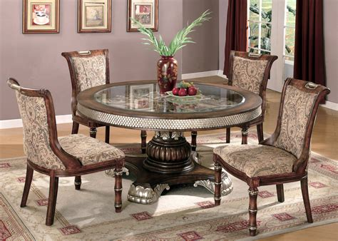 single pedestal  dining room set traditional